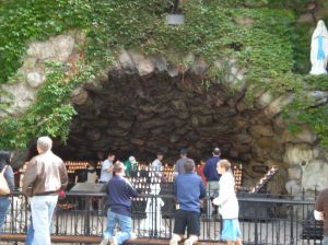 This is my most recent picture of the Notre Dame Grotto, one of the most beautiful, peaceful places on Earth.