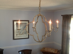 New chandelier for my dining room.
