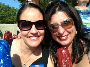 Megan and Me at a rally for Elizabeth Colbert-Bush.